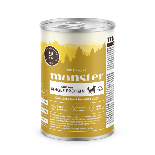 MONSTER Dog Adult Single Protein Chicken 400 g