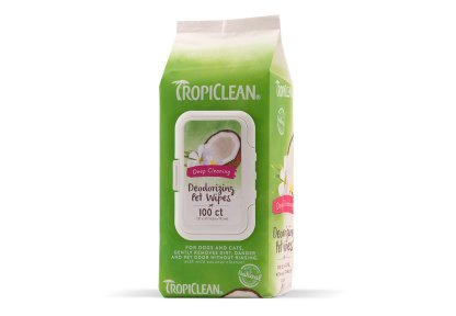 Tropiclean Deep Cleaning Wipes 100 kpl