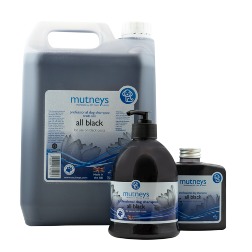 Mutneys All Black Shampoo 500ml – mustille turkeille